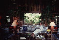 Oscar De La Renta at Casa de Campo in the Dominican Republic.
