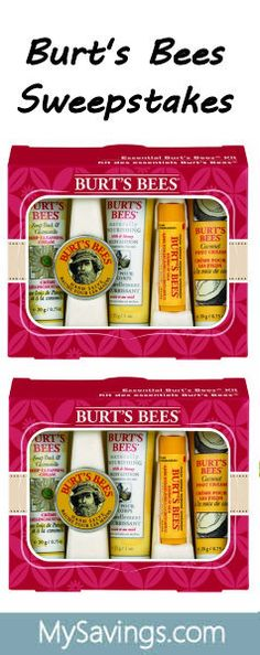 Three Winners: Burt's Bees Sweepstakes http://swee.ps/RPHmAZnM