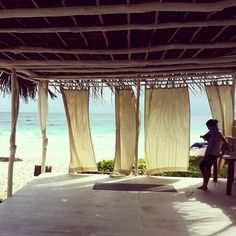 Beachfront Yoga Studio! Can't wait to go to Tulum in May with Emily and my parents!