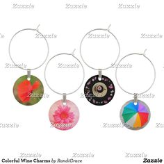Shop Colorful Wine Charms created by RandiGrace.