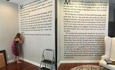 Super fan paints the first page of Harry Potter on her wall