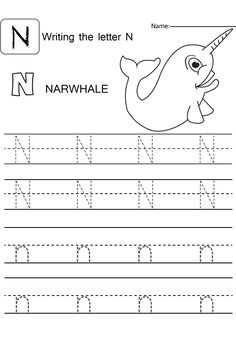 Letter N Worksheets for Preschool and Kindergarten Color Worksheets For Preschool, Free Preschool, Preschool Worksheets, Letter Tracing Worksheets, Tracing Letters, Number Tracing, Letter N Activities, Preschool Letters, Teaching The Alphabet