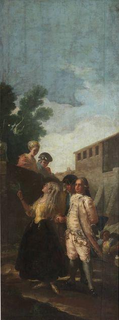 Francisco de Goya y Lucientes ( España 1746 - 1828 ) en El Museo de Prado . Madrid - España : El militar y la señora