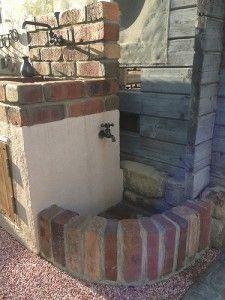 キッチンタイプ立水栓 レンガ