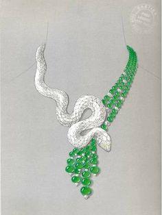 Cartier. Snake-motif necklace 2011 - Alain Truong