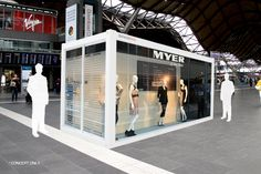 Pop-up retail space for Myer