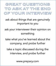 best questions to ask at the end of an interview - Go Resumes Interview Tips