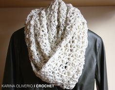 crochet infinitive scarf pattern, cowl, hand made