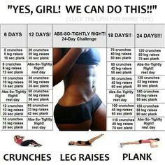Abs, legs, plank