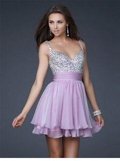 A-Line/Princess V-neck Short/Mini Chiffon  Charmeuse Homecoming Dresses With Ruffle  Beading (022004341)