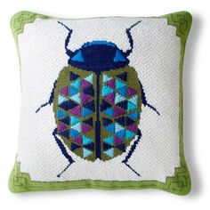 needlepoint: pillows from johnathan adler