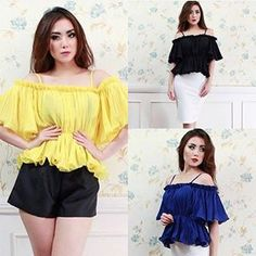 SABRINA PLEATED PEPLUM TOP