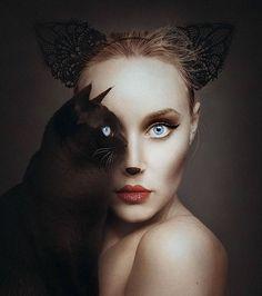 Die Welt durch Tieraugen sehen: Die tierischen Selbstporträts von Flóra Borsi  Die ungarische Künstlerin Flóra Borsi setzt sich in ihren digital nachbearbeiteten Fotoarbeiten mit der Rolle von Identität, Persönlichkeit, Emo...