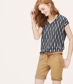 687102e0c7 Ann Taylor LOFT T Shirt Summer Navy Navy Blue T Shirt, Vacation Wardrobe,  Summer