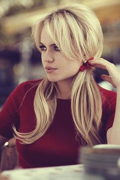 Pigtails for adults. Ala ... Bardot.