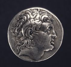Tetradrachm.  Artist/Maker(s): Unknown.  Culture: Greek (Thracian).  Place(s): Amphipolis, Thrace, Greece (Place created).  Date: 323 - 281 B.C.  Medium: Silver.