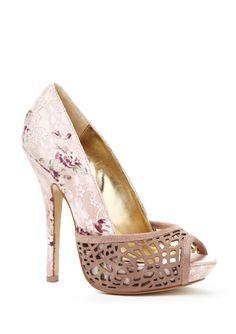 Lace floral shoe