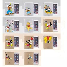 Slim Cartoon Protective Clear Hard Case Cover For Apple Tablet iPad Air/Air 2 Ipad Air 2 Cases, Ipad Case, Air Air, Ipad Tablet, Leather Case, Protective Cases, Gallery Wall, Apple, Slim