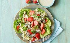 Pastasalat med kylling, koriander og jordbær