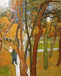 The Walk - Fallen leaves - Vincent van Gogh  -  Completion Date: 1889    Place of Creation: Saint-rémy, Provence