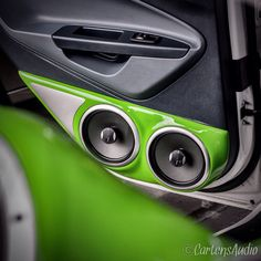 Green Gloss Paint Finished #Focal #Coaxial Speaker #AudioMobil Cartens® Autosound And Installation