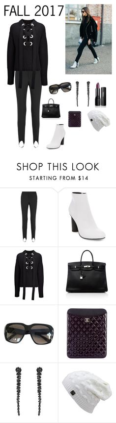 """Stirrups are Back"" by kotnourka ❤ liked on Polyvore featuring Helmut Lang, Steve Madden, Joseph, Hermès, CÉLINE, Chanel and Simone Rocha"