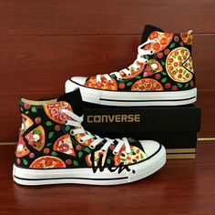 Pizza Original Design Converse All Star Men Women s Sneakers Hand Painted  Shoes 2a042fc769c8