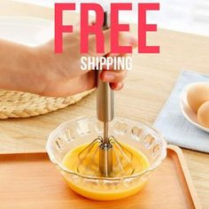 Semi-automatic Egg Beater Hand Mixer Stainless Steel Whisk Egg Frother Milk Egg Beater Kitchen Utensils for Whisking Stirring Wire Whisk, Egg Whisk, Baking Utensils, Kitchen Utensils, Cool Kitchen Gadgets, Cool Kitchens, Kitchen Tops, Kitchen Mixer, Kitchen Dining