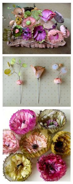 beautiful coffee filter flowers! the link took me to another paper flower example but I'd love to see the original article/tutorial for this one. if anyone can get to it will you paste it in the comments below? thanks