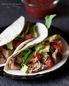 Pork Carnitas Tacos in the Pressure Cooker | PressureCookingToday.com