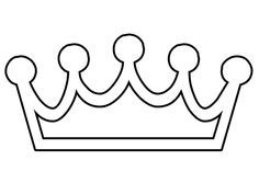 christian symbol black line art for kids Kings Crown is the