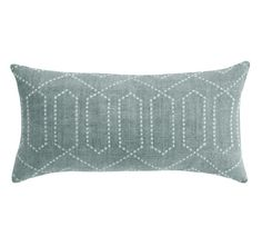 dotted trellis azure pillow