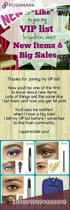 """NEW LIST!! """"Like"""" to hear about new items & sales ***** PLEASE """"LIKE"""" THIS NEW LIST!! ***** *** The old one is full and will be deleted soon! ***  Hit LIKE to be notified (via price drop) about new listings and big sales!   Lots of new listings coming soon!! Anthropologie Jewelry"""