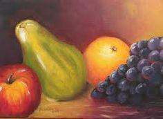 Resultado de imagem para pintura óleo sobre tela de fruta