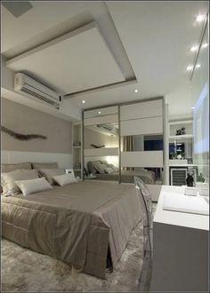 unordinary ceiling design ideas for your bedroom 37 Bedroom False Ceiling Design, Luxury Bedroom Design, Bedroom Closet Design, Home Decor Bedroom, Modern Bedroom, Home Interior Design, Pinterest Room Decor, Plafond Design, Suites
