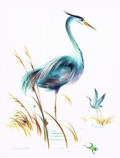 Great Blue Herons - Frans Van Lamsweerde