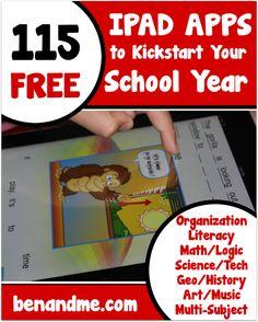 115 iPad Apps to Kickstart Your School Year #edapps #homeschool #ipad