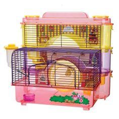 Penn Plax Doll Hamster Homes Hamster Life, Hamster Habitat, Hamster Toys, Hamster Stuff, Hamster Ideas, Hamster Supplies, Pet Supplies, Small Animal Cage, Small Animals