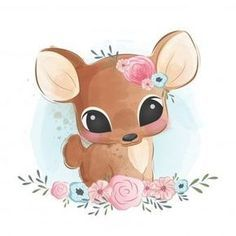 Cute Deer Sitting In Bushes, Baby, Animal, Cute PNG and Vector with Transparent Background for Free Cartoon Cartoon, Cute Cartoon Drawings, Kawaii Drawings, Disney Drawings, Easy Drawings, Baby Cartoon Drawing, Drawing Disney, Baby Animal Drawings, Drawing Animals