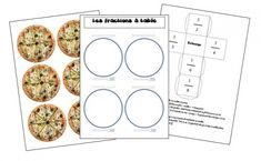 Game on fracties: fracties aan tafel! Decimal, Pizza Fractions, Fraction Games, Primary Maths, Homeschool Math, 3rd Grade Math, Alphabet And Numbers, Learn French, Fun Math