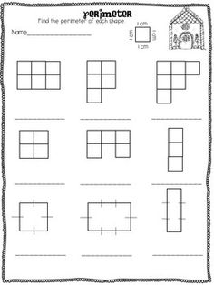 *FREEBIE* GINGERBREAD FUN: AREA AND PERIMETER