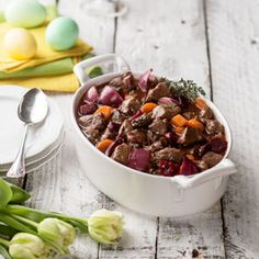 Punajuuri-karitsapata. Easter`s lamb beetroot stew. Foodstyling: Kati Pohja. Photo: Ilkka Hietala. Client: Lidl Finland.