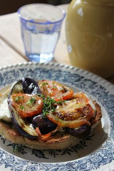 Provençaalse open sandwich