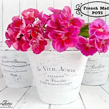 DIY - French Made Pots With Waterslide Decals!