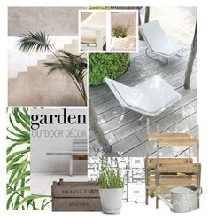 """""""OUTDOOR DECOR"""" by mariapia65 ❤ liked on Polyvore featuring interior, interiors, interior design, home, home decor, interior decorating, York Wallcoverings, Garden Trading, Potting Shed Creations and outdoor"""