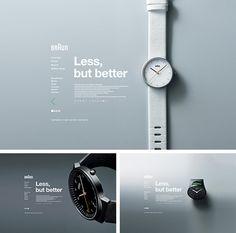 watch web design Website Design Layout, Web Layout, Layout Design, Portfolio Layout, Portfolio Design, Table Design Bois, Industrial Design Portfolio, Presentation Layout, Presentation Boards