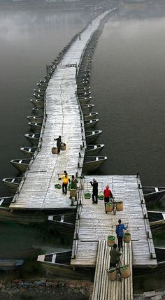 Ganzhou Ancient Floating Bridge, Jiangxi, China