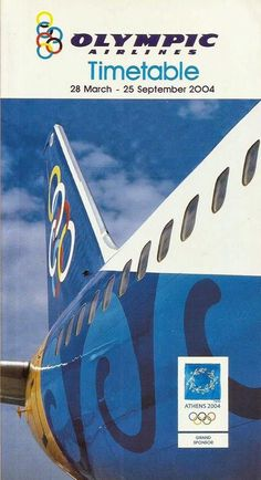 Olympic Airlines, Timetable, 2004 Olympic Airlines, Asian Games, Commonwealth Games, Cabin Crew, Athens Greece, Summer Olympics, Olympic Games, Vintage Posters, Counting