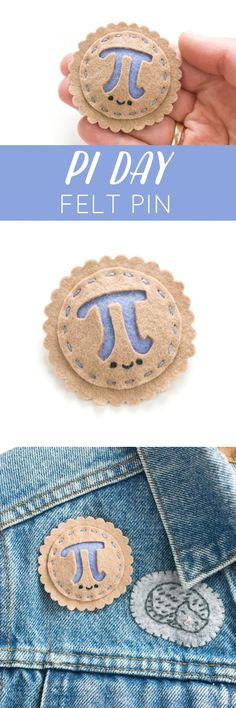 felt pi day pin diy project // wild olive