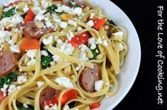 Best Spinach And Feta Chicken Sausage Recipe on Pinterest